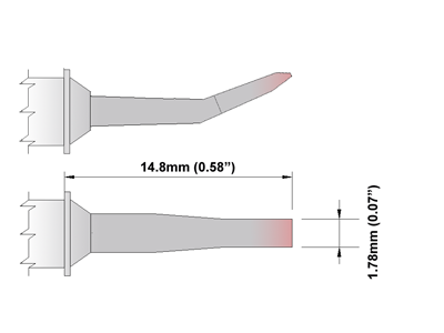 TTZ Series Tweezers Tips (TXXTZ018)